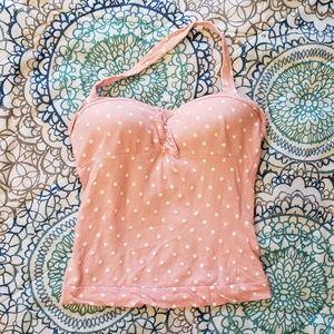 Cute pink & white polka dot top